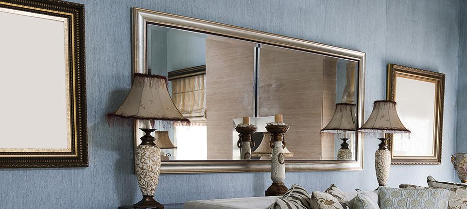 Зеркала в раме в интерьере